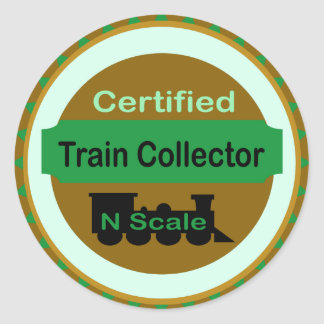 N Scale Train Collector Stickers