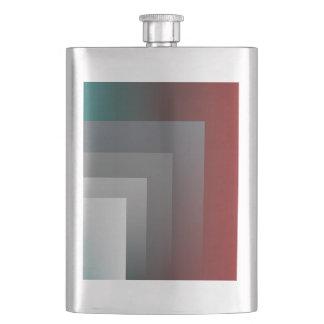 N - teal gray burgundy flask