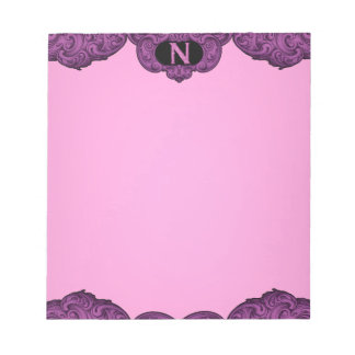 N - The Falck Alphabet (Pink) Note Pad