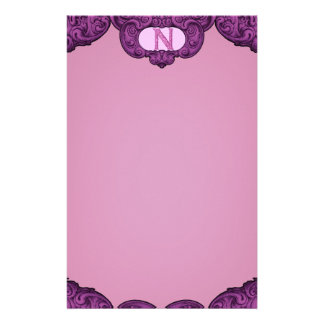 N - The Falck Alphabet (Pink) Stationery