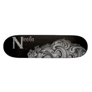N - The Falck Alphabet (Silvery) Skate Deck
