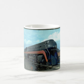 N&W 4-8-4 #611. (train;sky;clouds;track;)_Trains Coffee Mug