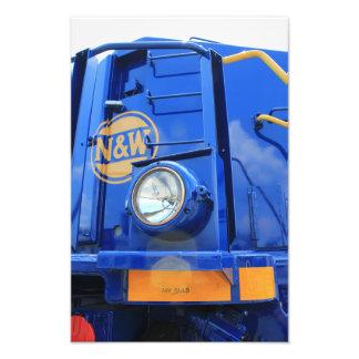 N W Engine in Blue Photo Print
