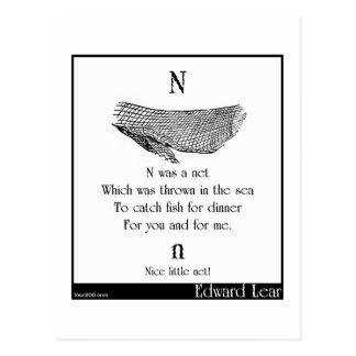 N was a net postcard