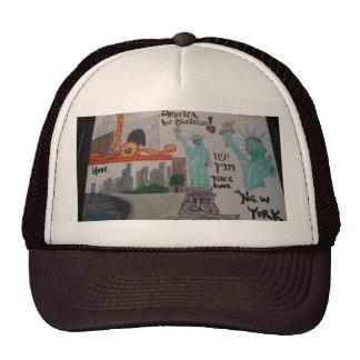 N.Y/Chicago art men's hat