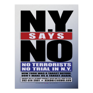 N.Y. Says No (Poster)