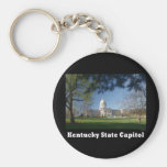 NA119.Ky Capitol. Basic Round Button Keychain
