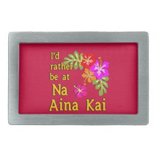 Na Aina Kai estaría bastante en Na Aina Kai Hawaii Hebillas Cinturón Rectangulares