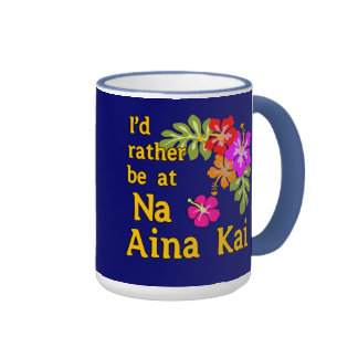 Na Aina Kai estaría bastante en Na Aina Kai Hawaii Taza De Dos Colores