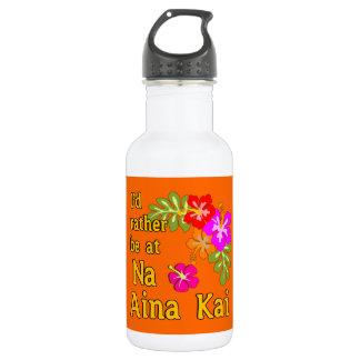 Na Aina Kai I'd Rather be at Na Aina Kai Hawaii Water Bottle