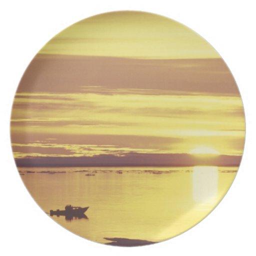 NA, Canadá, ártico canadiense, isla de Baffin Plato De Cena