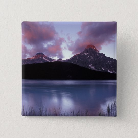 NA, Canada, Banff NP, Morning's first light on Pinback Button