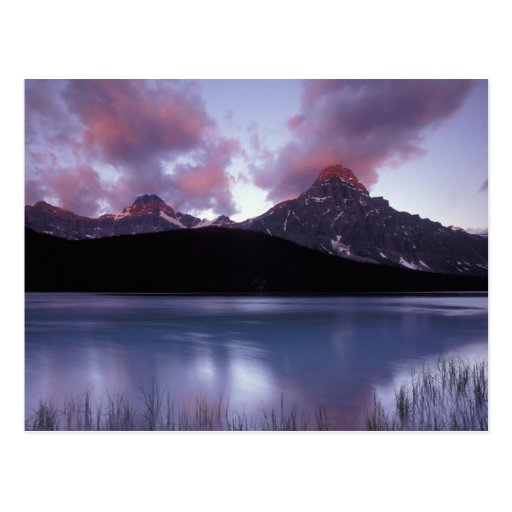 NA, Canada, Banff NP, Morning's first light on Postcard