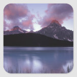 NA, Canada, Banff NP, Morning's first light on Square Sticker