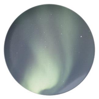 NA, Canadá, Manitoba, aurora boreal de Churchill, Plato De Cena