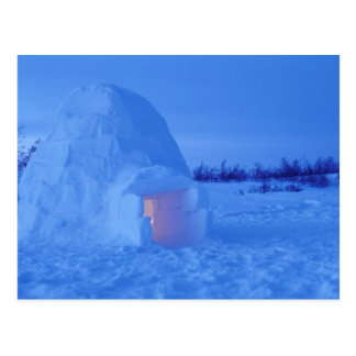 NA, Canada, Manitoba, Churchill. Arctic igloo Postcard