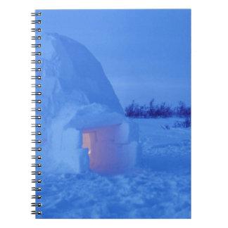 NA, Canadá, Manitoba, Churchill. Iglú ártico Libros De Apuntes Con Espiral