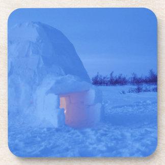 NA, Canadá, Manitoba, Churchill. Iglú ártico Posavasos De Bebidas