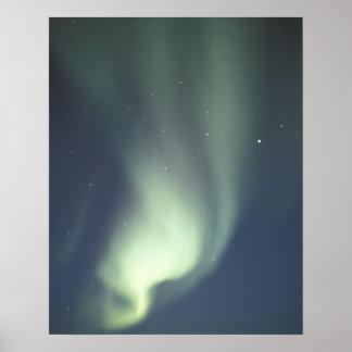 NA, Canada, Manitoba, Churchill Northern lights, Poster