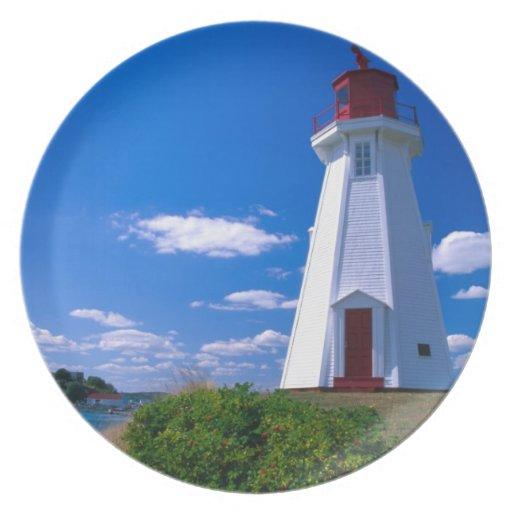 NA, Canada, New Brunswick, Campobello Island. 2 Dinner Plates
