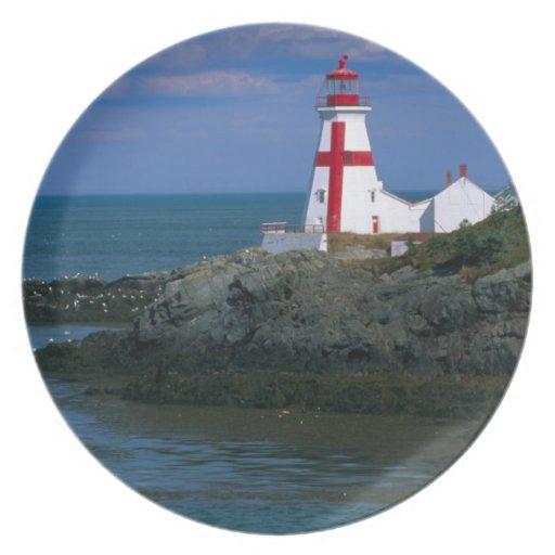 NA, Canada, New Brunswick, Campobello Island. 4 Party Plate