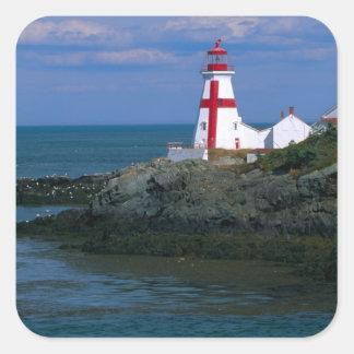 NA, Canada, New Brunswick, Campobello Island. 4 Square Sticker