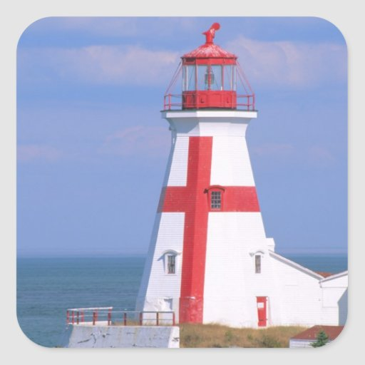 NA, Canada, New Brunswick, Campobello Island. 6 Square Sticker