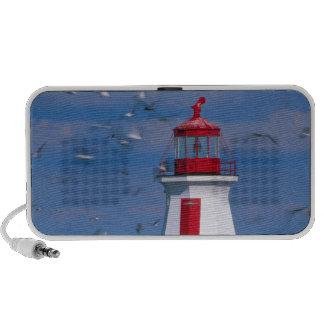 NA, Canada, New Brunswick, Campobello Island. 8 Travelling Speakers