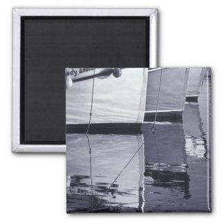 NA, Canada, Nova Scotia, Digby. Fishing boats; 2 Inch Square Magnet