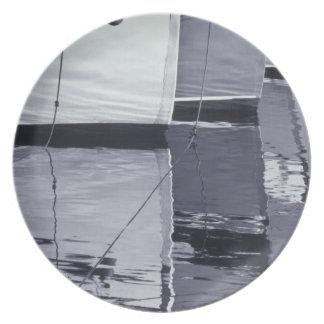 NA, Canada, Nova Scotia, Digby. Fishing boats; Plate