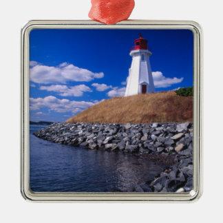 NA, Canadá, Nuevo Brunswick, isla de Campabello Adorno Navideño Cuadrado De Metal