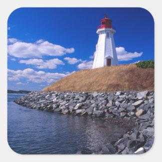 NA, Canadá, Nuevo Brunswick, isla de Campabello Pegatina Cuadrada