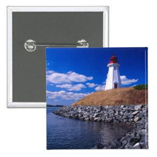 NA, Canadá, Nuevo Brunswick, isla de Campabello Pin Cuadrada 5 Cm