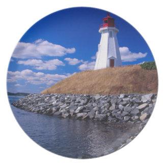 NA, Canadá, Nuevo Brunswick, isla de Campabello Plato De Comida