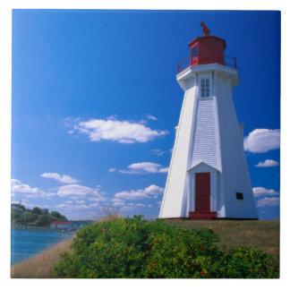 NA, Canadá, Nuevo Brunswick, isla de Campobello. 2 Azulejo Cuadrado Grande