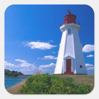 NA, Canadá, Nuevo Brunswick, isla de Campobello. 2 Pegatina Cuadrada