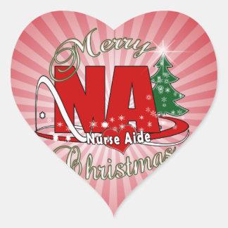 NA CHRISTMAS NURSE AIDE HEART STICKER