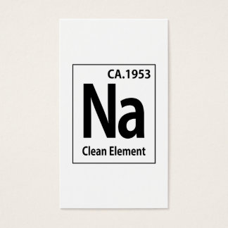 NA Clean Element Periodic Table Business Card