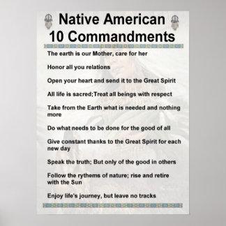 NA de 10 mandamientos Póster