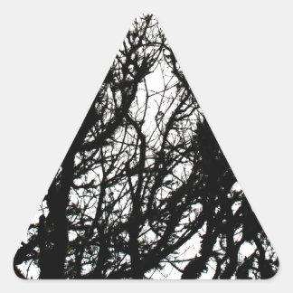 Na duro rígido rústico de piedra negro de la moda pegatinas trianguloes