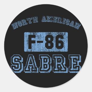 NA F-86 SABRE - AZUL PEGATINA REDONDA