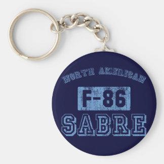NA F-86 Sabre - BLUE Keychains