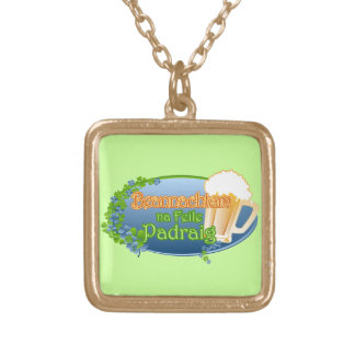 na Feile Padraig (Ver 1) Gold Plated Necklace