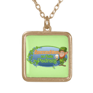 na Feile Padraig (Ver 2) Gold Plated Necklace