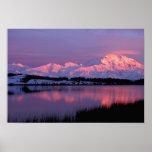 NA, los E.E.U.U., Alaska, Denali NP, el monte McKi Póster