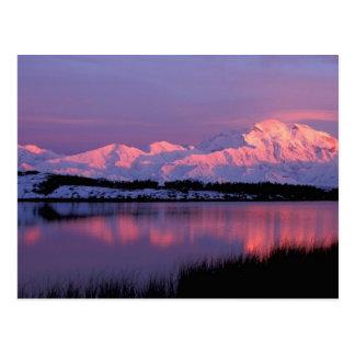 NA, los E.E.U.U., Alaska, Denali NP, el monte McKi Tarjeta Postal