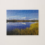 NA, los E.E.U.U., Alaska, Denali NP el monte McKin Puzzles Con Fotos