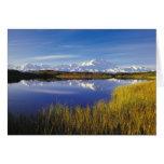 NA, los E.E.U.U., Alaska, Denali NP el monte McKin Tarjeta