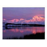 NA, los E.E.U.U., Alaska, Denali NP, el monte Tarjetas Postales