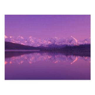 NA, los E.E.U.U., Alaska, Denali NP, lago wonder, Tarjeta Postal